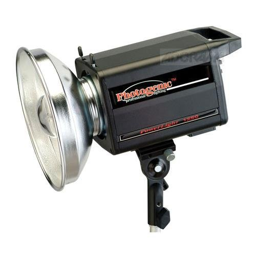 Photogenic 500ws PL2 Series Powerlight with Built-in Pocket Wizard Radio Receiver & C4-15C UV Color Corrected Flashtube, Transmitter not included. (PLR1250DRC)