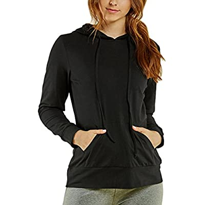 Sofra Women's Thin Cotton Pullover Hoodie Sweater at Women's Clothing store