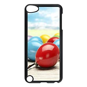 iPhone 5,5S Case,Colorful Easter Eggs Hard Shell Back Case for Black iPhone 5,5S Okaycosama300768