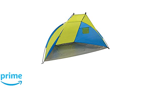 Yellowstone - Carpa para playa (21 x 11,5 x 11,5 cm), color amarillo y azul: Amazon.es: Deportes y aire libre