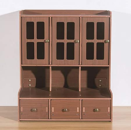 NOVELOVE Muebles Caja De Almacenamiento Mesa Impermeable Cajón De Madera Joyería Estante 35 X 22 X 40.5cm Madera Oscura: Amazon.es: Hogar