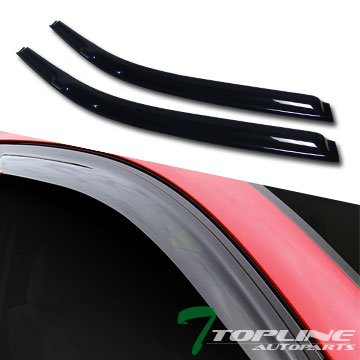 Topline Autopart Sun/Rain Guard Smoke Vent Shade Deflector Window Visor 96-00 Civic 2D/3Dr Ek Ek9