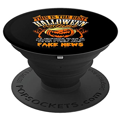 Funny Donald Trump Pumpkin Halloween Costume Fake News - PopSockets Grip and Stand for Phones and Tablets]()