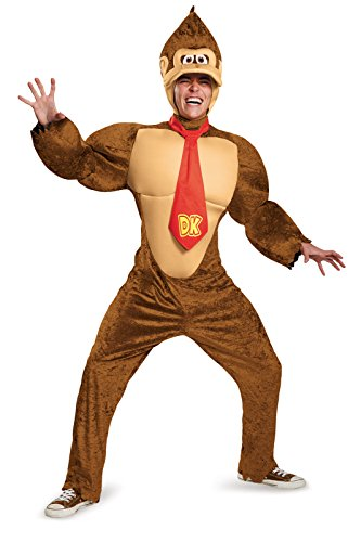 Price comparison product image Disguise Men's Super Mario Donkey Kong Deluxe Costume,  Brown,  X-Large