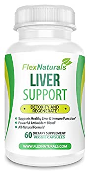 FlexNaturals Liver Support and Clense Supplement with Turmeric Root, designed to Boost Liver Function, Increase Bile Production, and Aid in Liver Repair - 30 Day Supply