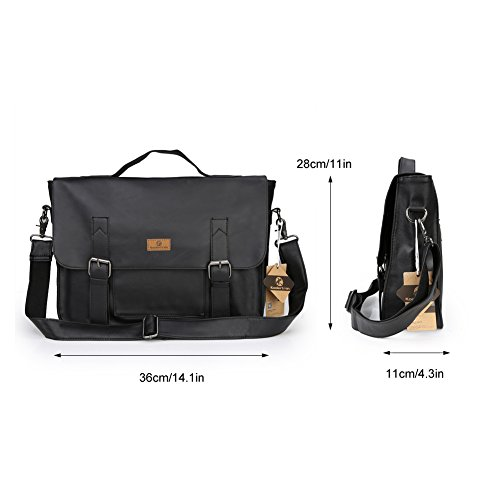 Koolertron Bag Men's handle Brown Black Top rqrBw7dt