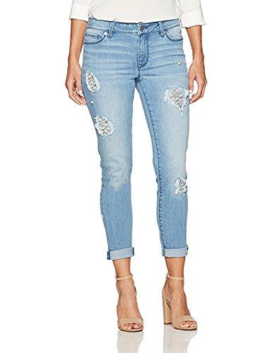 Denim Crush Pearl Repair Skinny Jean Light Azure 8