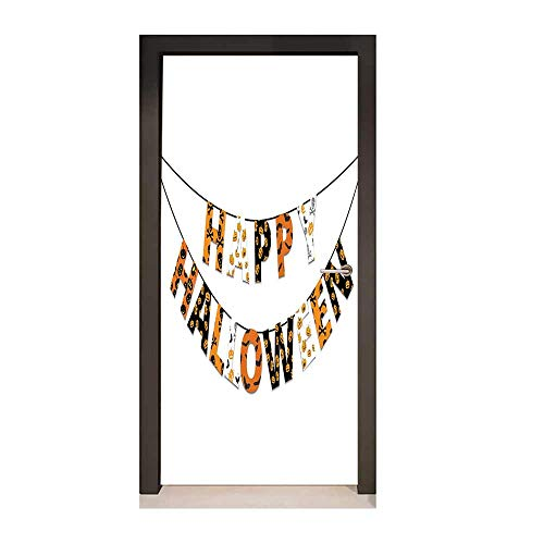 Halloween Door Wallpaper Happy Halloween Banner Greetings Pumpkins