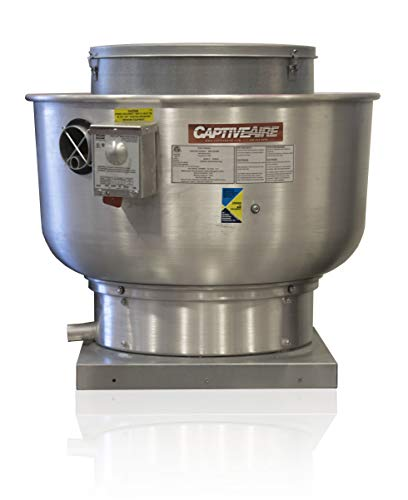 (Restaurant Canopy Hood Grease Rated Exhaust Fan- Belt Drive Centrifugal Upblast Exhaust Fan- 33