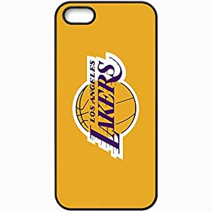 Personalized iPhone 5 5S Cell phone Case/Cover Skin Los Angeles Lakers 143 Sports Black