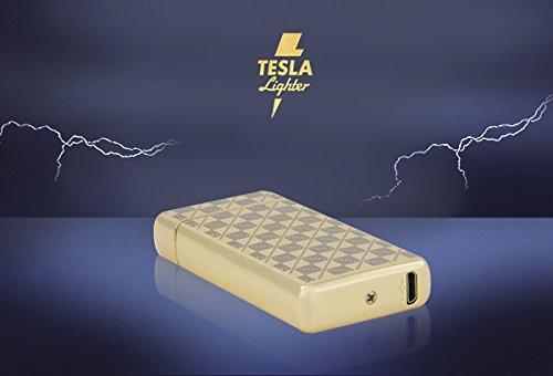 Tesla de Lighter T08 | Luz Arco Mechero, Plasma Double de Arc electrónico, recargable, cargador con corriente por USB, sin gas y gasolina, ...