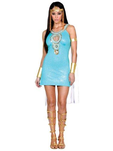 Sexy Egyptian Costume Mini Dress Greek Mythology Queen Of The Nile Goddess God Sizes: Medium (Gods And Goddess Costumes)