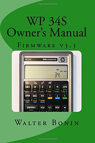 WP 34S Owner's Manual: Firmware v3.3