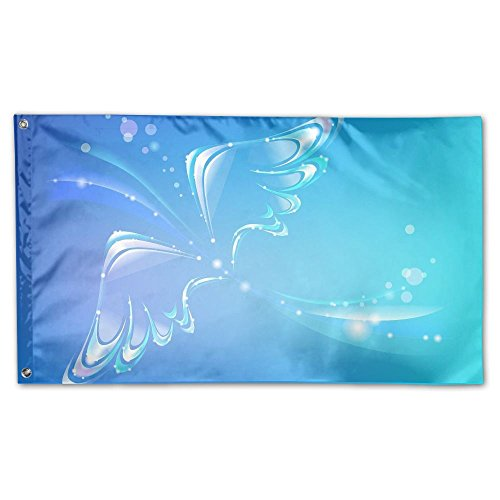 (Garden Flag Dreamy Wings Outdoor Yard Home Flag Wall Lawn Banner Polyester Flag Decoration 3' x 5')