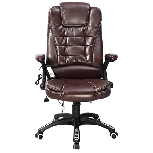 Massage Chair Full Body Executive Ergonomic Computer Desk Home Office- Brown by Tamsun by Tamsun (Image #1)