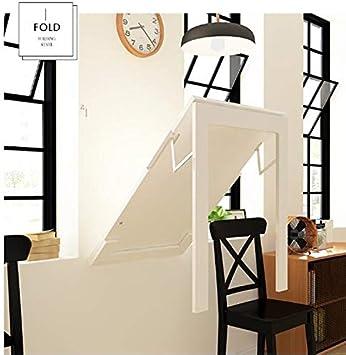 G.B.H. Mesa de Hoja abatible montada en la Pared/Mesa Plegable de Cocina y Comedor Mesa/Mesa de Oficina en casa Estación de Trabajo/Mesa de Caballete (Blanco/Negro): Amazon.es: Hogar