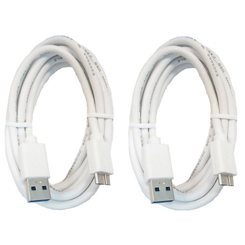 RND USB 3.0 Fast Super Speed Cable (6 feet/White)(Bundle of Two)