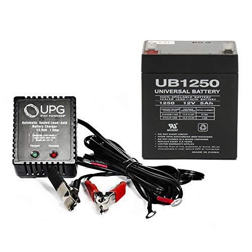 (Universal Power Group 12V 5AH SLA Battery for Cabelas Wingman Duck Decoy + 12V 1Amp)