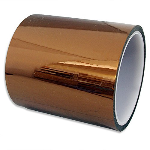 Kapton Tape [Amber, Wide: 100mm, Length: 100ft, 1MIL]