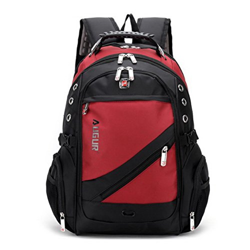 Travel Outdoor Computer Backpack Laptop bag 15.6''(red) - 7