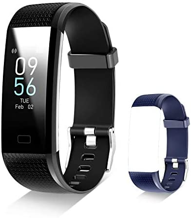 Toplus Fitness Tracker with Connected GPS Activity Tracker with Blood Pressure Fitness Band Waterproof Smart Fitness Band with Step Counter, Calorie Counter,Pedometer Watch for Women and Men