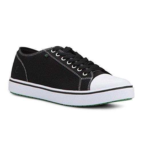 Emeril Lagasse Men's Canal Canvas Slip-Resistant Shoe, Black/White, 7 D US
