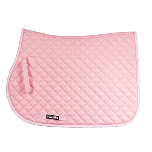 Horze Chooze Anti Slip Fit All Purpose Saddle Pad, Pink, (Pink Saddle Pads)