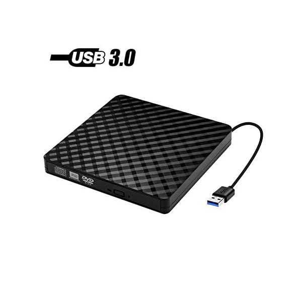 BAUBEY External DVD Drive,USB 3.0 Slim Portable High Speed Data Transfer Writer Recorder...