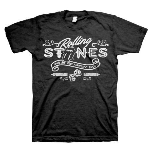 (Rolling Stones Men's Tumbling Dice T-Shirt, Black, Medium )