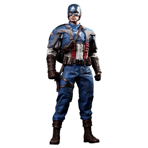 Captain America New Costume Avengers (Captain America The First Avenger Hot Toys Movie Masterpiece 1/6 Scale Collectible Figure Captain America)