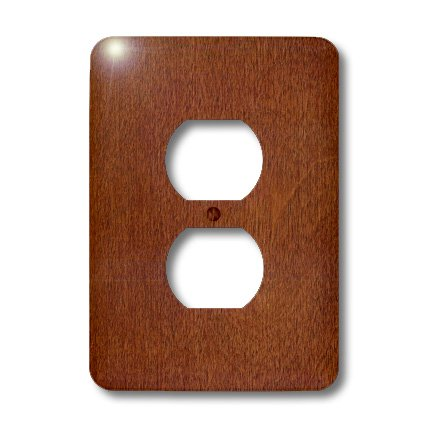 3dRose LLC lsp_41594_6 Birch Cherry Wood, 2 Plug Outlet Cover