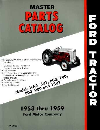 amazon com 1953 1956 1957 1958 1959 ford tractor parts book list ford factory radio wiring harness 1953 1956 1957 1958 1959 ford tractor parts book list