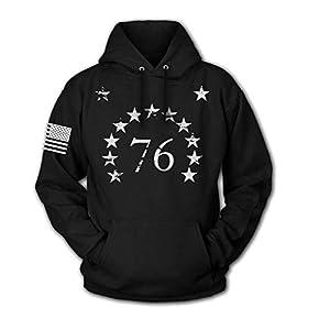 Tactical Pro Supply USA Sweatshirt Hoodie for Men or Women, American Flag Patriotic Jacket Sweater
