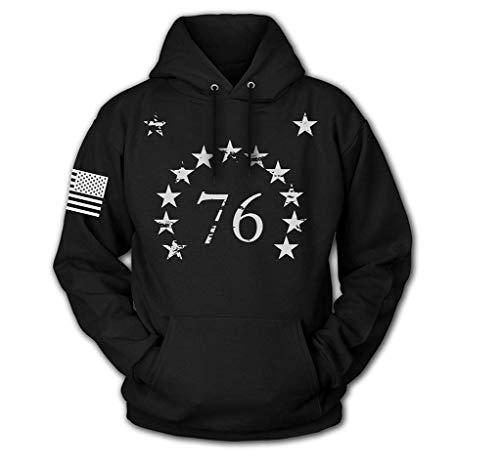Tactical Pro Supply USA Sweatshirt Hoodie for Men or Women, American Flag Patriotic Jacket Sweater (1776 Stars, -
