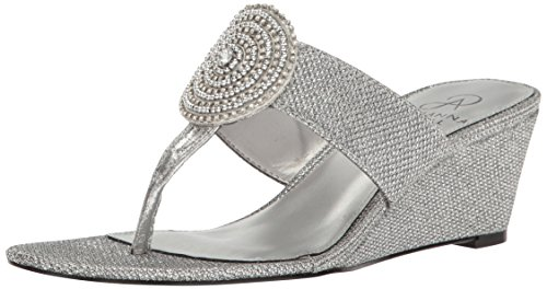 Adrianna Silver Casey Sandal Wedge Women's Papell Antique gOqwRg