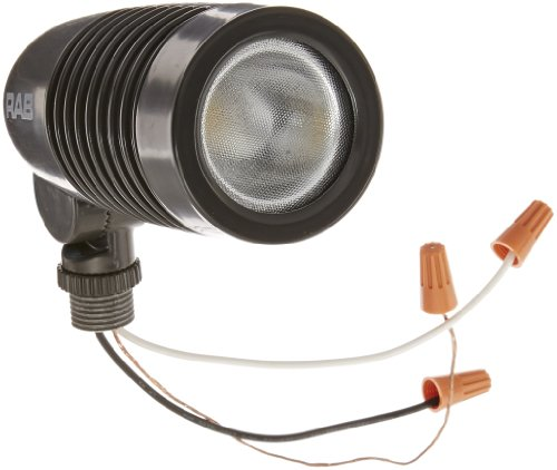 RAB Lighting LFLED5NA Neutral LED Landscape Floodlight, Aluminum, 5 Watts, 208 Lumens, 120-240 Volts, Bronze Color