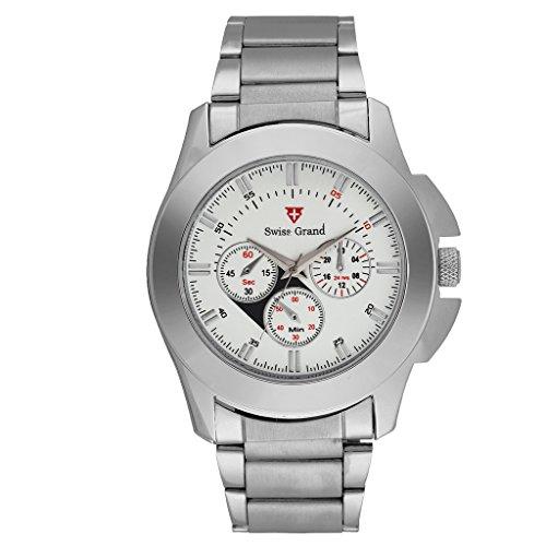 Swiss Grand Analog White Dial Men #39;s Watch  SG 0800