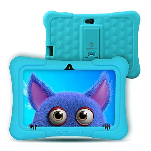 Dragon Touch Tablet para Niños con WiFi Bluetooth 7 Pulgadas 1024×600 Tablet Infantil de Android 9.0 Quad Core 2GB 16GB Doble Cámara Kid-Proof Funda Tablet Niños Educativo Y88X Pro Azul