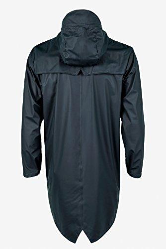 Jacket 02 Blue Long Abrigo Impermeable para Azul Hombre Rains g6wqC57xBw