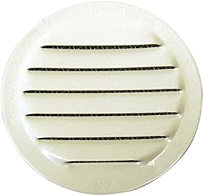 White 4-Inch Mini Round Aluminum Insect Proof Mini Louvers With Screen Pack of 4 Standard Plumbing Supply Maurice Franklin Louver RLW-100 4