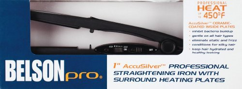 """Belson Pro 1"""" AccuSilver Professional Straightening Iron"""