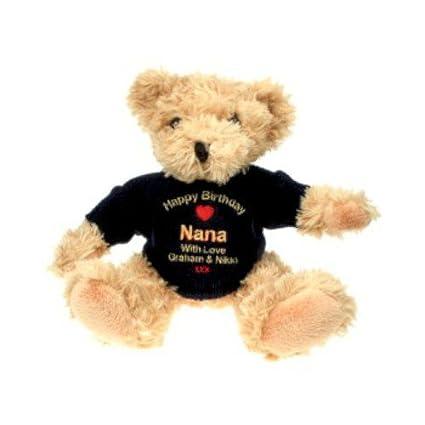 Bordado personalizado oso de peluche regalo para Nana personalizada personalizado oso de peluche regalo para