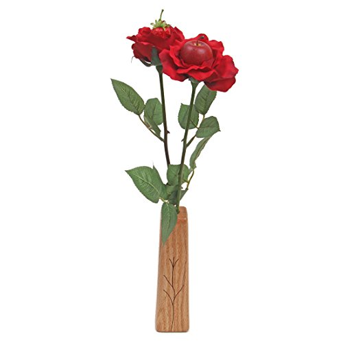 4th Wedding Anniversary gift 2-stem artificial fruit roses with vase
