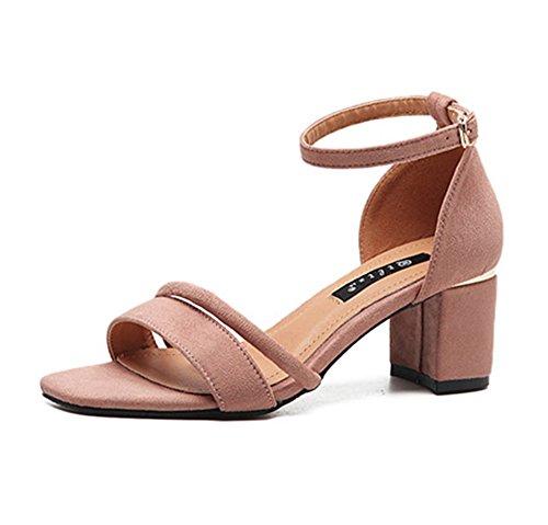 Salabobo - Zapatos con correa de tobillo mujer , color rosa, talla 41