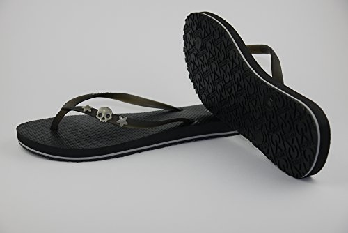 COVY'S jandals black/black #5121 women (Zehentrenner, Sandale, DIY, Pins)