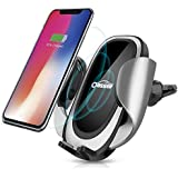 Oasser Wireless Car Charger Mount Fast Charger Phone Holder with Adjustable Coil, 10W Compatible for Samsung Galaxy S9/S9+/S8/S8+/Note 8, 7.5W Compatible for iPhone Xs Max/Xs/XR/X/8/8 Plus