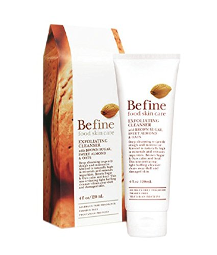Befine Exfoliating Cleanser with Brown Sugar, Sweet Almond and Oats, 4 Ounce