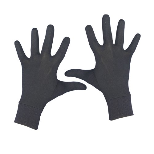 Terramar Adult Thermasilk Glove Liner (Black, - Silk Lightweight Gloves