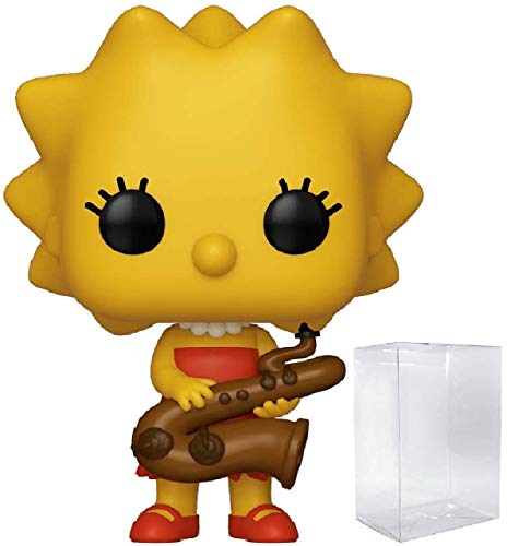 Funko The Simpsons - Lisa Simpson with Saxophone Pop! Vinyl Figure (Includes Compatible Pop Box Protector Case)