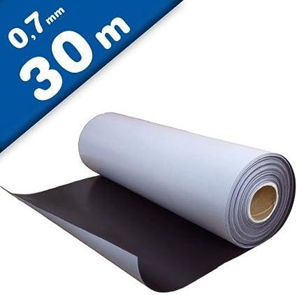 Lámina magnética autoadhesiva 0,7mm x 0,62m x 15m - puedes adherir otros materiales como por ejemplo fotografías, cartulina, papel, y todo lo que te brinde tu imaginación.: Amazon.es: Hogar